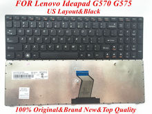 2016 Hot Sell US Laptop Keyboard for Lenovo Ideapad G570 G575 Keyboard US layout 100% Original&Brand New 90days Warranty
