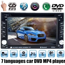 AM FM 7 languages RDS Bluetooth Radio HD touch screen 6.5 inch 2 Din Car DVD MP5 MP4 Player Stereo USB SD for rear Camera