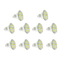 10pcs/lot MR11/GU4 Spotlight Bulb DC12V 3W 5730SMD 12led Mini Lamp Warm/Cold White For Ceiling Lights/Window Display/Studio(China)