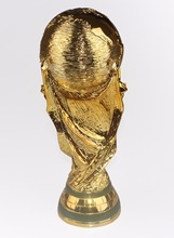 1:1.3 27cm World Cup Football trophy Resin Replica Trophies Model Brazil World Cup Best Soccer Fan Souvenir Gift