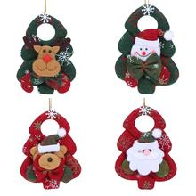 Christmas Ornaments Xmas Tree Santa Claus Elk Hanging Pendants Drop Christmas Decoration for Home New Year Products(China)