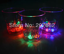 Free shipping 12pcs/lot 260ML color changing flashing beer mug led cup  Dinner LED Light Cup Plastic Ware Party