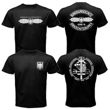 Mens T-shirt GSG 9 Police German Counter Terrorism Special Operations Unit Tee Shirt Short Sleeve Heavy Cotton Tshirt