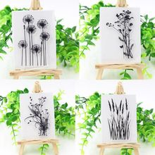 Fashion Funny Silicone Various Flower&Grass Transparent Clear Rubber Stamp Sheet Cling Scrapbooking DIY Craft Tool(China)