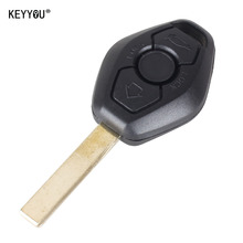 KEYYOU 3 button UNCUT REMOTE KEY CASE SHELL For BMW 3 5 7 Series 325 325i 325ci 330 330i 325 325i 525 525i X5 X3 Z3 Z4 WITH LOGO