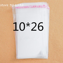 Crystal Clear Resealable Poly Cellophane Bag 10*26cm Transparent Opp Bag Packing Plastic Bags Self Adhesive Seal 10*26 cm