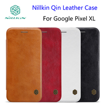 For Google Pixel XL Case NILLKIN Qin Leather Case Google Pixel XL 5.5 inch Phone Cases Cover Flip + Retailed Package(China)