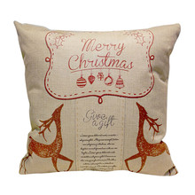 Ouneed Factory Price Christmas festival new santas claus Pattern Square linen blend Pillow Case chelsea soccer jersey Aug23