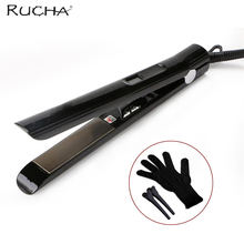 RUCHA Professional Hair Straightener MCH Brazilian Keratin Treatment Hair Straightening Iron 480F Fast Heating High Temperature(China)