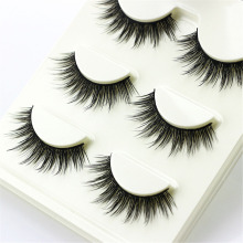 3 pairs /set 3D False Eyelashes Messy Cross Thick Natural Fake Eye Lashes Professional Makeup Tips Bigeye Long False Eye Lashes(China)