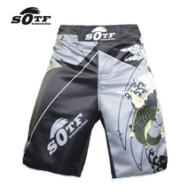 SOTF large size loose exercise fitness comfortable Thai fist fitness shorts mma fight shorts muay thai clothing mma thai boxing