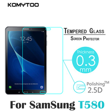 Komeytoo Tempered Glass for Samsung Galaxy Tab A 10.1 T580 T585 Screen Protector Tablet PC Anti-scratch Protective Film Guard
