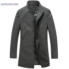 Men's Wool Jackets Spring Autumn Brand Men Woolen Coats Middle Long Jackets And Coats Mens Warm Wool Overcoat Size 3XL 2XL(China)