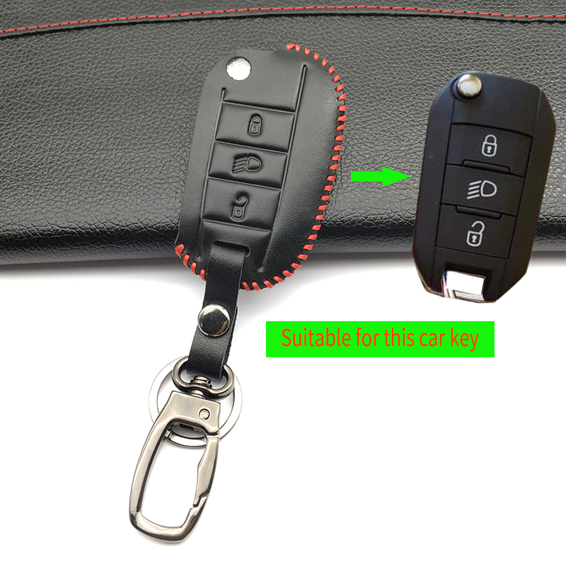 Peugeot 3008 208 308 508 408 2008 RCZ 407 307 4008 remote protecte Key fob Exquisite leather case cover skin shell cover