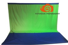 Free shipping 3x5m Dual Sides Chromakey Blue/Green screen Studio Seamless Fabric cloth backdrop,Photo Studio Background