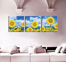 3 Panel Wall Painting Sunflower Home Decor Art Picture Paint on Canvas Prints Combination Rustic Decors Paintings Set Unframed