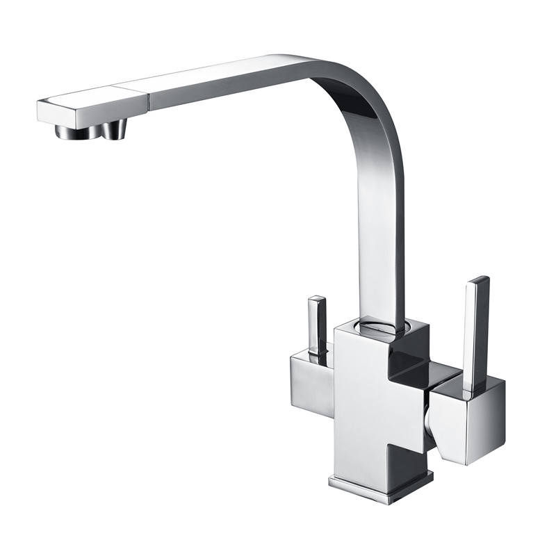 New Wholesale Factory Direct Price 360 Degree Swivel Square Style Tri Flow Sink Faucet Ro Water Filtered 3 Way Kitchen Tap<br><br>Aliexpress