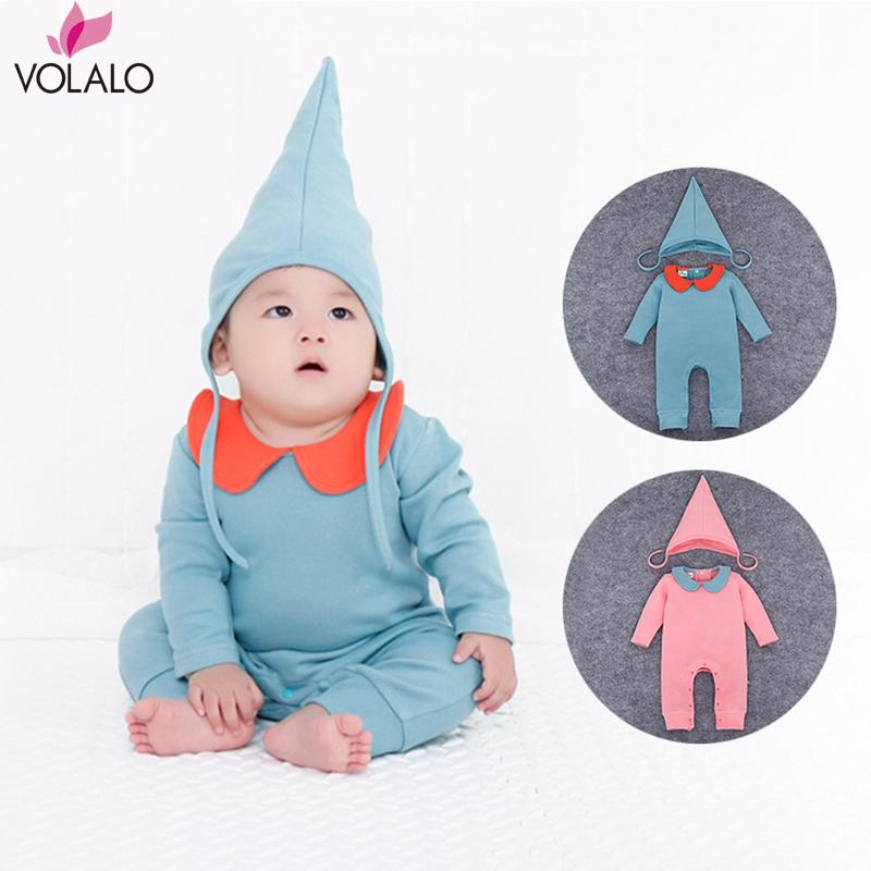 2016 2pcs/set Newborn Baby Girls Romper + hat Spring Autumn Long Sleeves Baby Clothing Jumpsuits Infant clothes Roupa Infant<br><br>Aliexpress