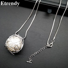 Simple Chain Modern Girl New Long Necklace Women Pendants Fashion Jewelry wholesale Cute Gift(China)