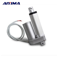 AIYIMA 1pcs Multi-function Linear Actuator Motor DC12V 50mm Stroke 1000N 12mm/s For Windows Multifunctional Bed Lift Table(China)