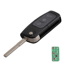 3 Button Folding Flip Remote Key Fob with 63 Chip Car Auto Replacement Remote Key for Ford Focus Mondeo Fiesta Galaxy S-Max(China)