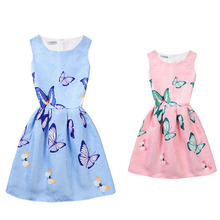 Family Matching Outfits Summer Fashion Girls Dress Print Princess Party Dress Kids Mom Daughter Costumes Children Clothing