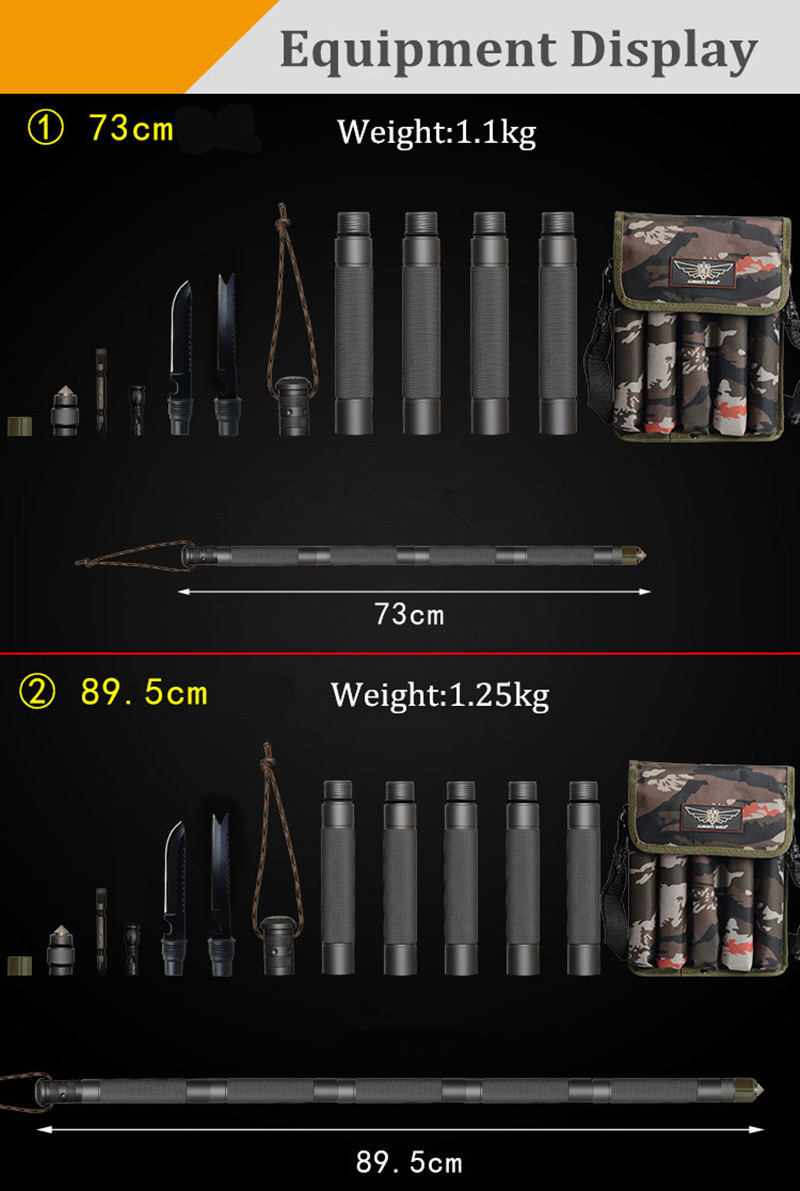 Multifunction Trekking Poles Outdoor Alpenstock Camping Hiking Walking Stick Tactical Stick Hiking Accessories (22)