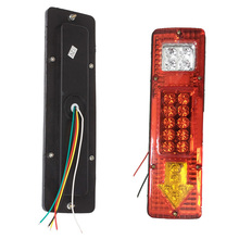 New Car Led Rear Lights 12V Truck Trailer Caravan Van Rear Tail Stop Reverse Indicator Turn Light Lamp Hot Sale(China)