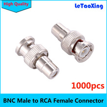 1000Pcs CCTV Connector Plug BNC Male to RCA Female Jack Video Adapter / BNC RCA Connector for CCTV Camera DHL Free shipping(China)