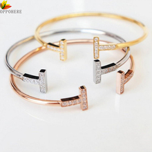OPPOHERE Brand Fashion Jewelry 316L Men And Women Love Bracelets Bangles Nails Cuff Bracelet jewelry