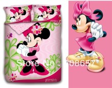 new hot pink minnie mouse girl's bedding twin full queen king size comforter cotton quilt duvet covers bed in a bag sheets set