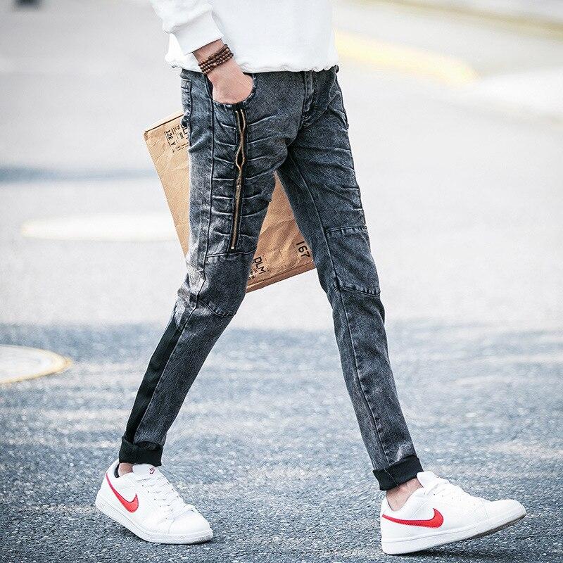 Fall 2016 snowflake gray stretch jeans mens cultivate ones morality Little feet pants pants teenagersÎäåæäà è àêñåññóàðû<br><br><br>Aliexpress