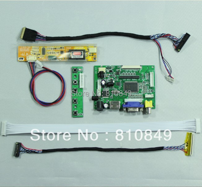 HDMI+VGA+2AV controller board work for 14.1inch 15.4inch WXGA 1280*800 Lcd Panel<br><br>Aliexpress