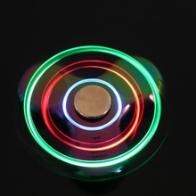 Buy Led Light Spinner Bluetooth Speaker Music Finger Spinner Finger Metal EDC Colorful Hand Spinner Kids Autism ADHD Handspinner for $7.15 in AliExpress store