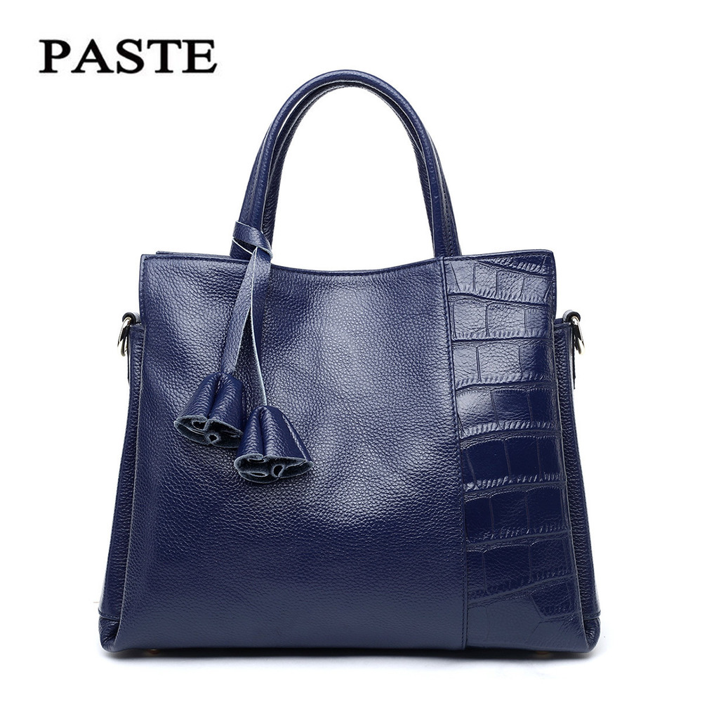 2016 New Style Ladies Handbag Crocodile Pattern Genuine Leather Womens Messenger Bags Female Medium Shoulder Tote Bags  PT12<br><br>Aliexpress