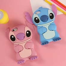 2016 New Time-limited No Anime Cartoon Stich Silicon 3d Cute Silicone Back Cover Case Lilo Stitch for Iphone 4 4s 5 5s 6 Plus
