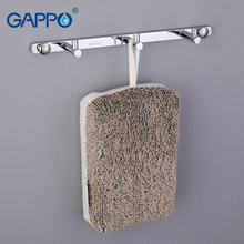 GAPPO clothes hook Modern Bathroom accessories 3 Hooks Wall mount zircalloy Towel Holder hook restroom Tower Hooks GA202-3