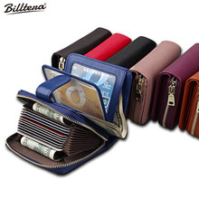 Billtera 2017 Real Unisex Leather Wallet 7 Colors Women Wallets Purses Men Zipper Wallet Female Bag Fashion Wholesale Selling