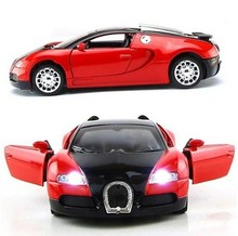 1:36 Scale Model Car Bugatti Veyron Diecast Car Model With Sound&Light Collection Car Toys Vehicle Gift For Children