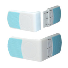 2PCS Baby Safety Lock Protection For Babies Child Refrigerator Angle Drawer Latches Cabinet Kids Security Window Lock