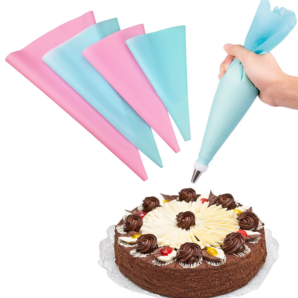57PCSSet 4Size Silicone Icing Piping Cream Pastry Bag+48x Stainless Steel Nozzle Tips+5x Converter DIY Cake Decorating Tools (21)