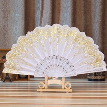 MENGXIANG 7 Styles Party Favors And Gifts Decorations Kids Chinese Style Lace Folding Hand Held Flower Hand Fan For Dance Party(China)