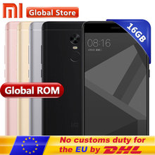 "Original Xiaomi Redmi Note 4X 16GB ROM 3GB RAM Mobile Phone Redmi Note4X 3GB 16GB Snapdragon S625 Octa Core 5.5"" 1920*1080"