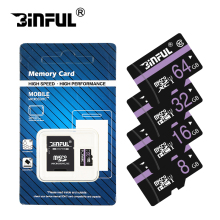 Binful Memory Card Class10 128GB 64GB 32GB 16GB micro sd card 8GB 4GB UHS-1 Memory flash card microsd free adapter(China)