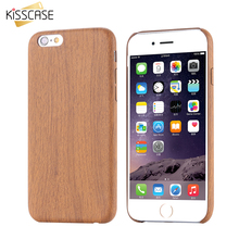 KISSCASE Wood Case For iPhone 6 6s Plus Case iPhone 7 7 Plus Cases Wooden Grain Phone Cases For iPhone 6 6s 7 Plus Cover Coque