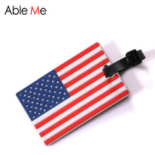 China Flag Prints Luggage Tag Cartoon Bus And Camera Printing Flag Sort Luggage Name And Phone Number Label Travel Accessories