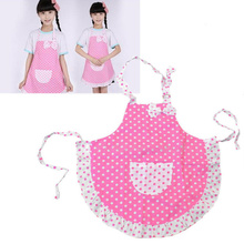 Cute Kids Children Plain Apron for Kitchen Cooking Baking Dining Child Frog Waterproof anti-stain dot princess aprons wholesale