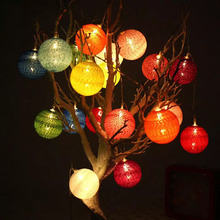 10/20pcs newest design battery powered Cotton-line ball string lights Fairy lights,Wedding,party,Patio,xmas Decor patio decor(China)