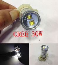 Free shipping 2Pcs Cree Chips Led 30W Ps19w PS24W H16 High Power LED Facelift For AUDI A3 S3 8P CanBus Lampen Car