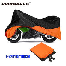 Ironwalls L Motorcycle Waterproof Cover Outdoor Protector Universal For Motor Bike Honda Yamaha Scooter Suzuki KTM EXC Motocross